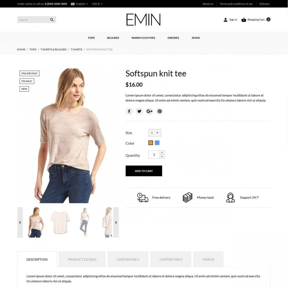 theme - Mode & Chaussures - Emin Fashion Store - 7