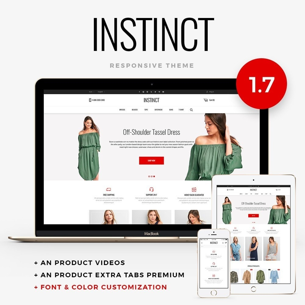 theme - Мода и обувь - Instinct Fashion Store - 1
