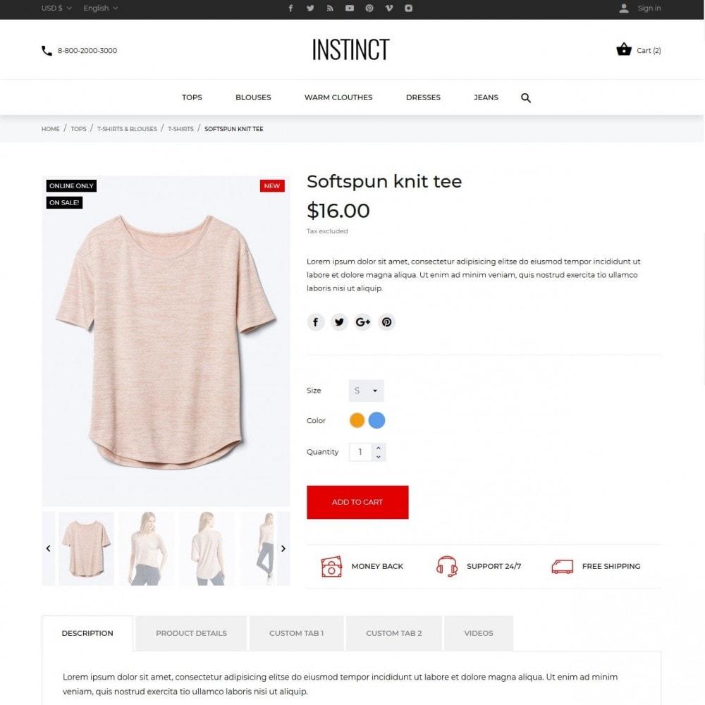 theme - Мода и обувь - Instinct Fashion Store - 7