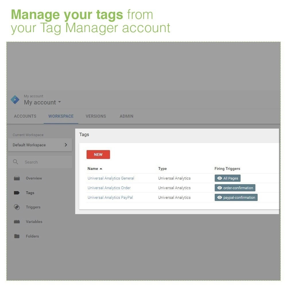 module - Статистика и анализ - Google Tag Manager Integration - PRO - 5