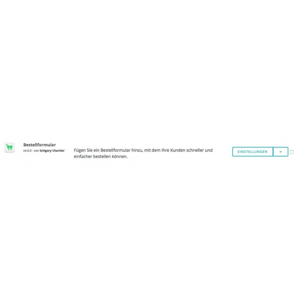 module - Express Checkout Prozesse - Bestellformular - 8