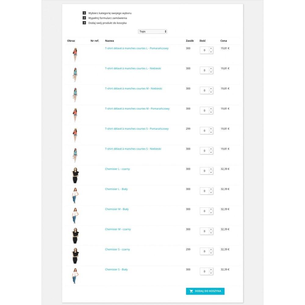 module - Szybki proces składania zamówienia - Formularz zamówienia - 5
