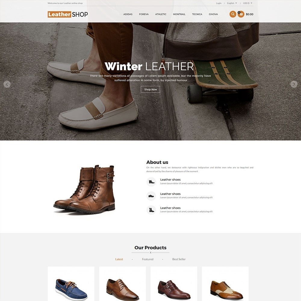 theme - Moda & Obuwie - Leather Shop - 2