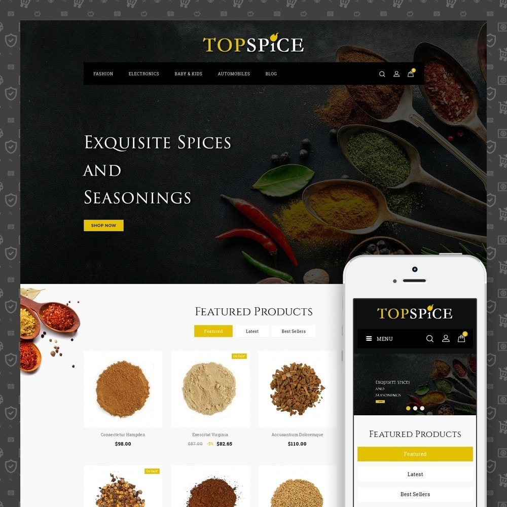 theme - Food & Restaurant - Top Spice Store - 1