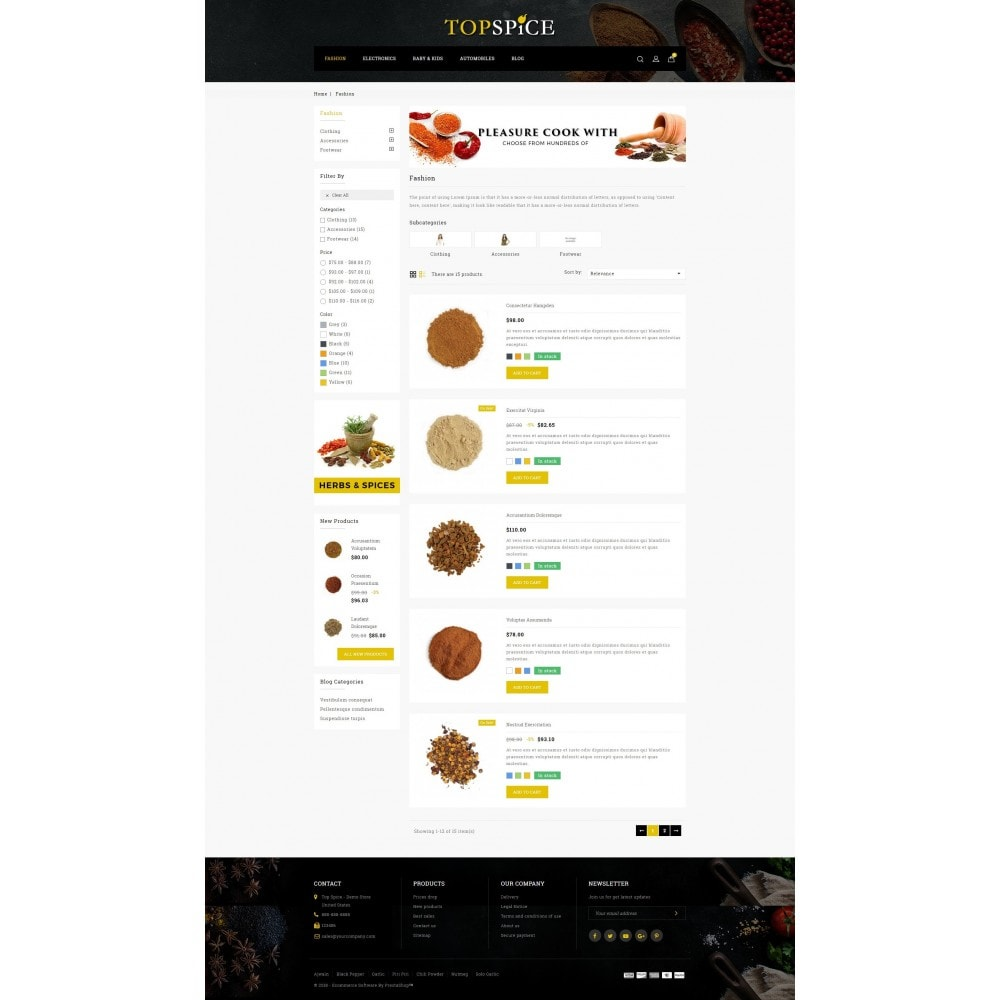 theme - Food & Restaurant - Top Spice Store - 4