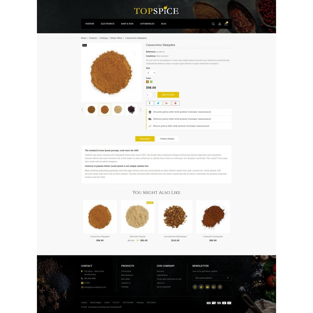 theme - Eten & Restaurant - Top Spice Store - 5