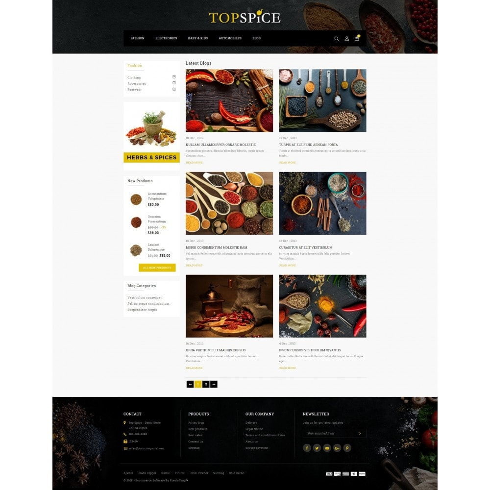 theme - Food & Restaurant - Top Spice Store - 9