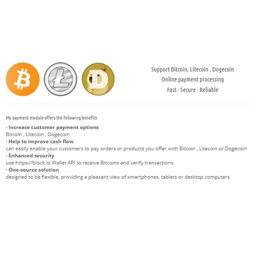 module - Andere Zahlungsmethoden - Bitcoin Litecoin Dogcoin Payment - 1
