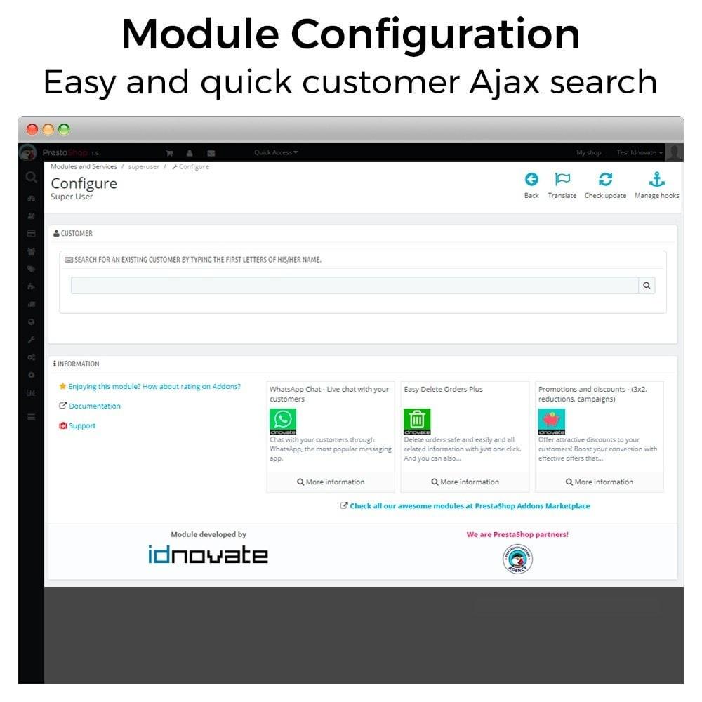 module - Servicio posventa - Super Usuario - Conectarse como cliente - 2