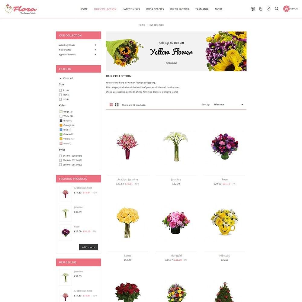 theme - Presentes, Flores & Comemorações - Flora Flower Shop - 4