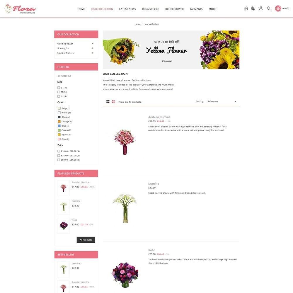 theme - Presentes, Flores & Comemorações - Flora Flower Shop - 5
