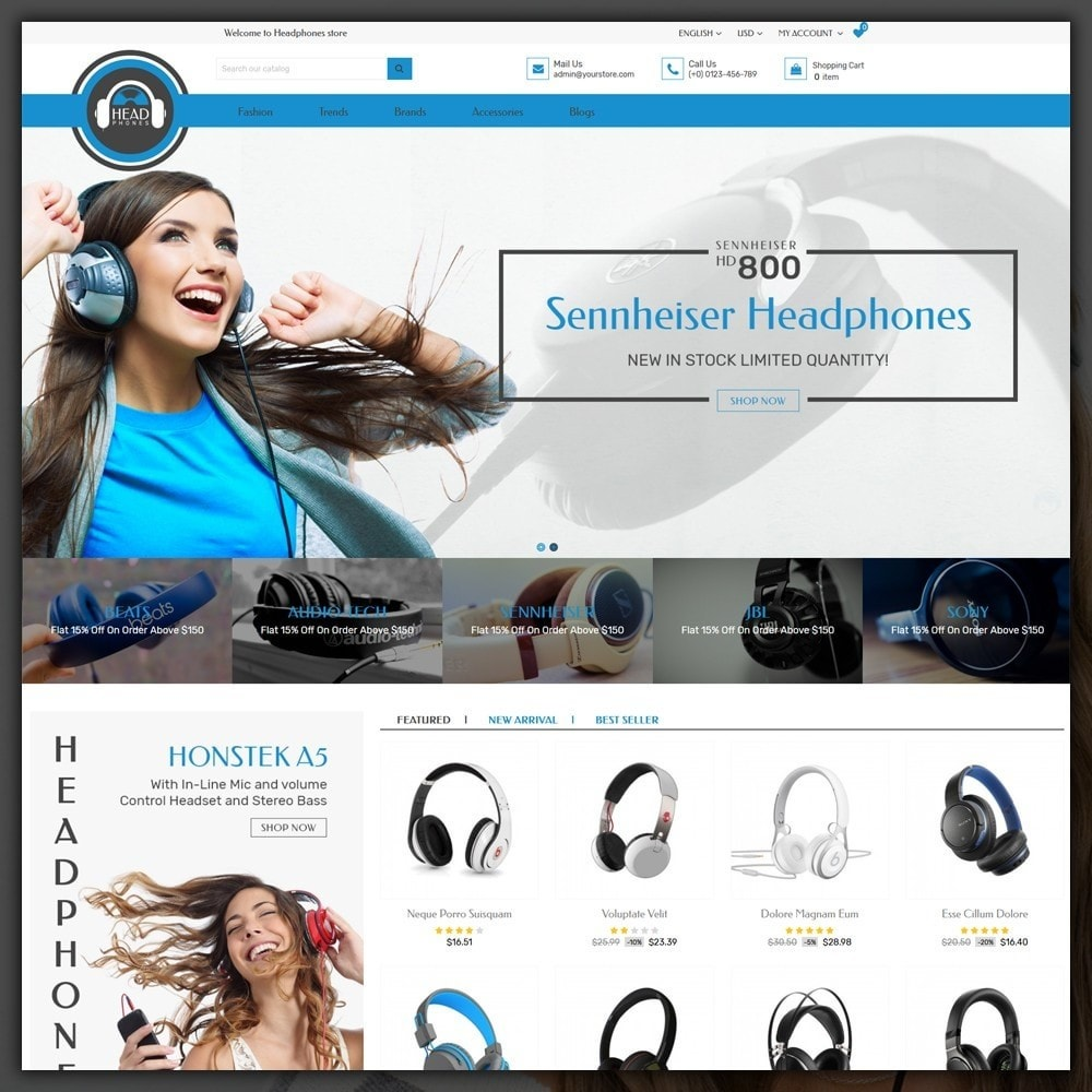 theme - Elettronica & High Tech - Headphone Shop - 2
