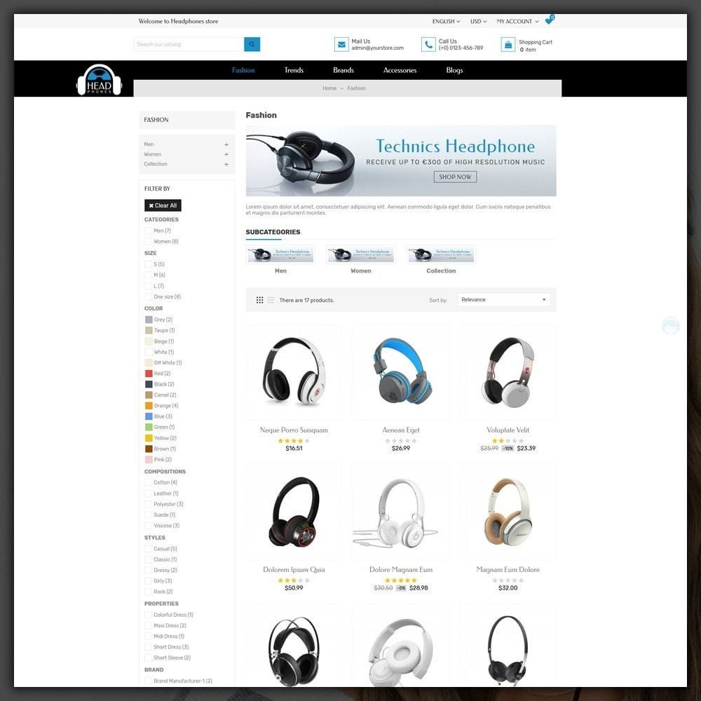 theme - Elektronika & High Tech - Headphone Shop - 4