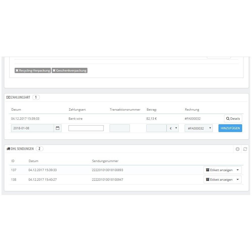 module - Versanddienstleister - DHL Connector - 2