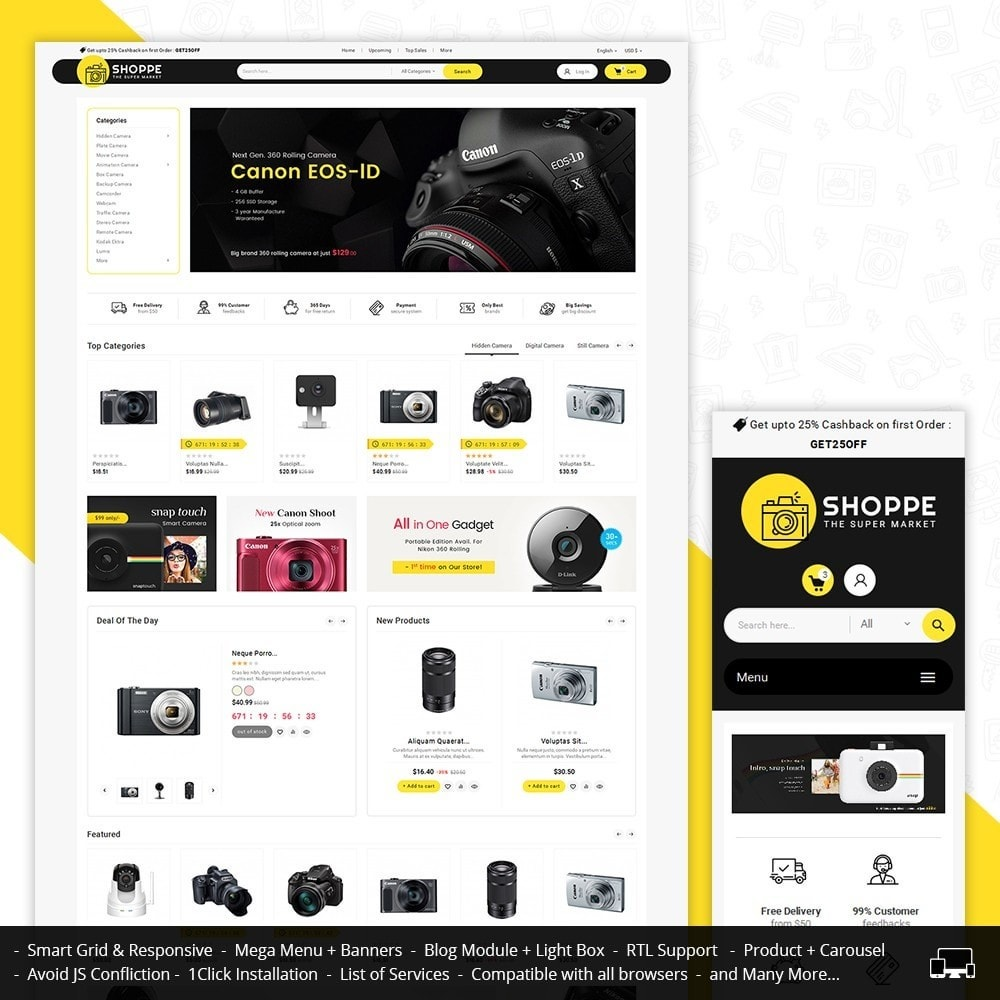 theme - Elettronica & High Tech - Mega Shoppe Camera - 1