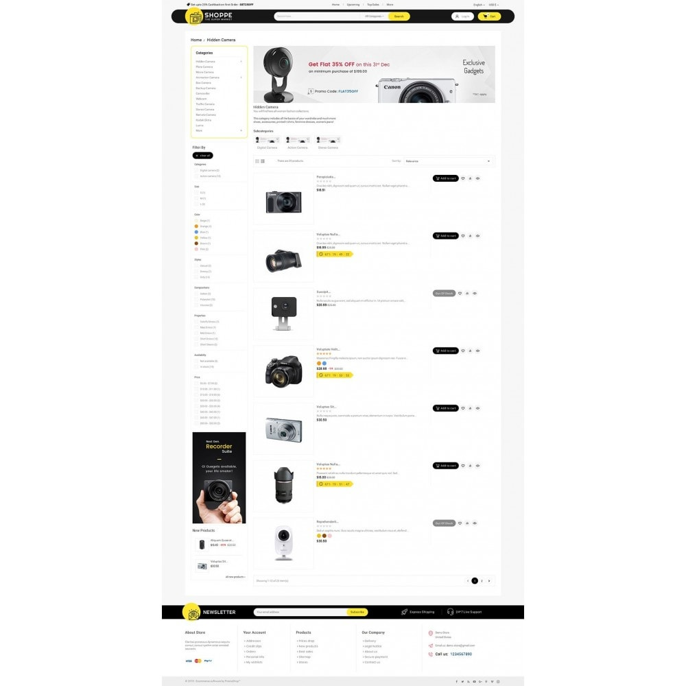 theme - Elettronica & High Tech - Mega Shoppe Camera - 4