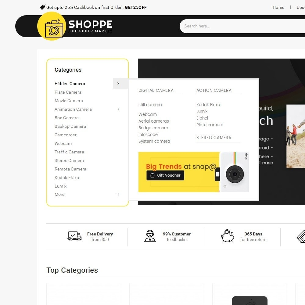 theme - Elettronica & High Tech - Mega Shoppe Camera - 9