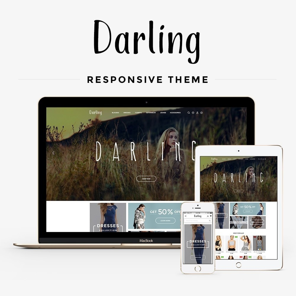 theme - Мода и обувь - Darling Fashion Store - 1