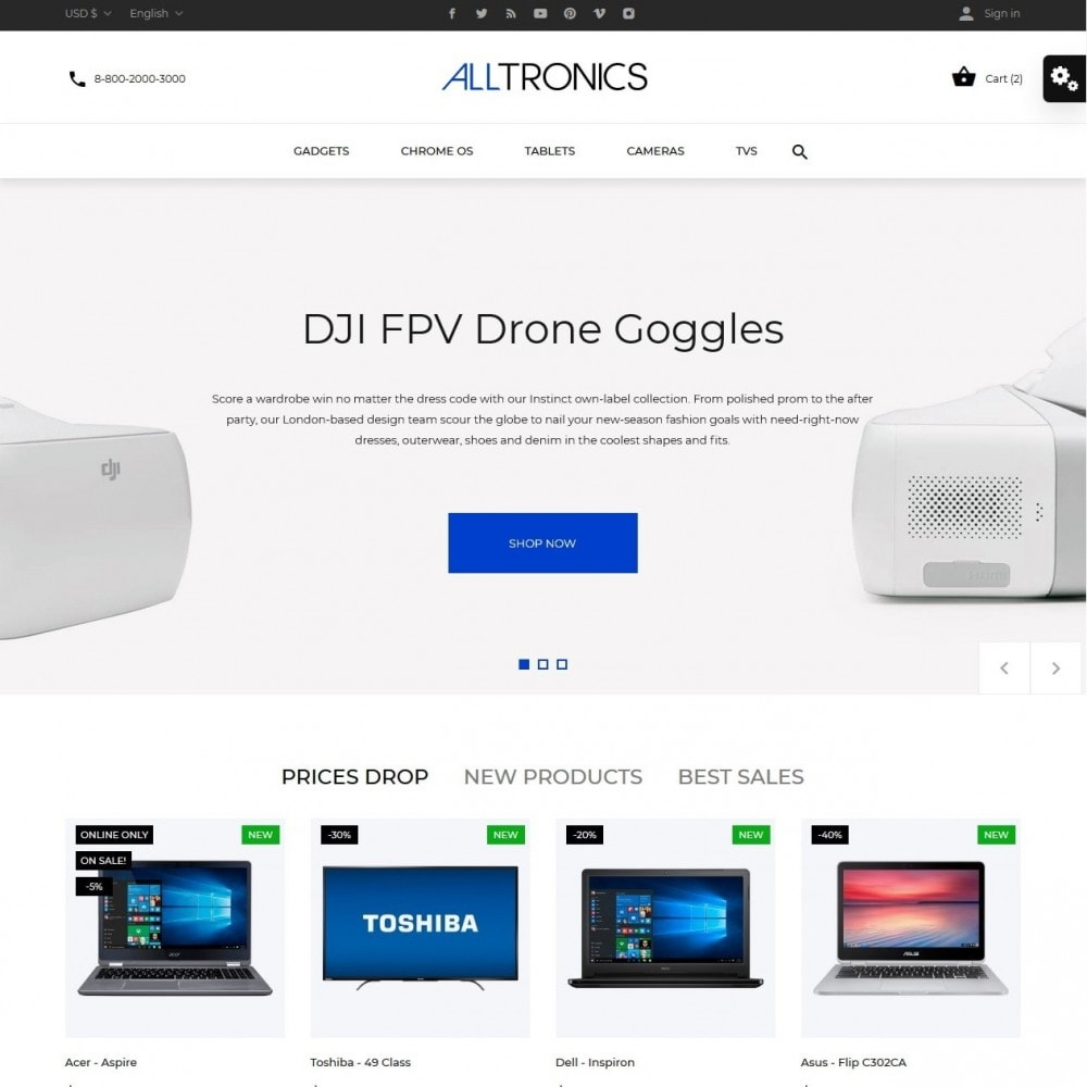 theme - Elektronika & High Tech - Alltronics - High-tech Shop - 2