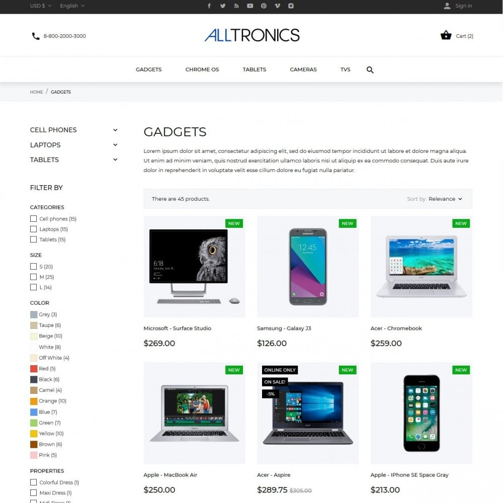 theme - Elektronika & High Tech - Alltronics - High-tech Shop - 5