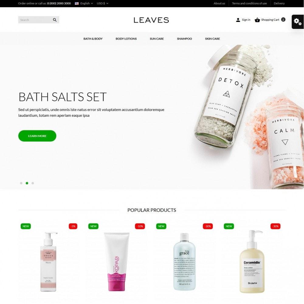 theme - Santé & Beauté - Leaves Cosmetics - 2