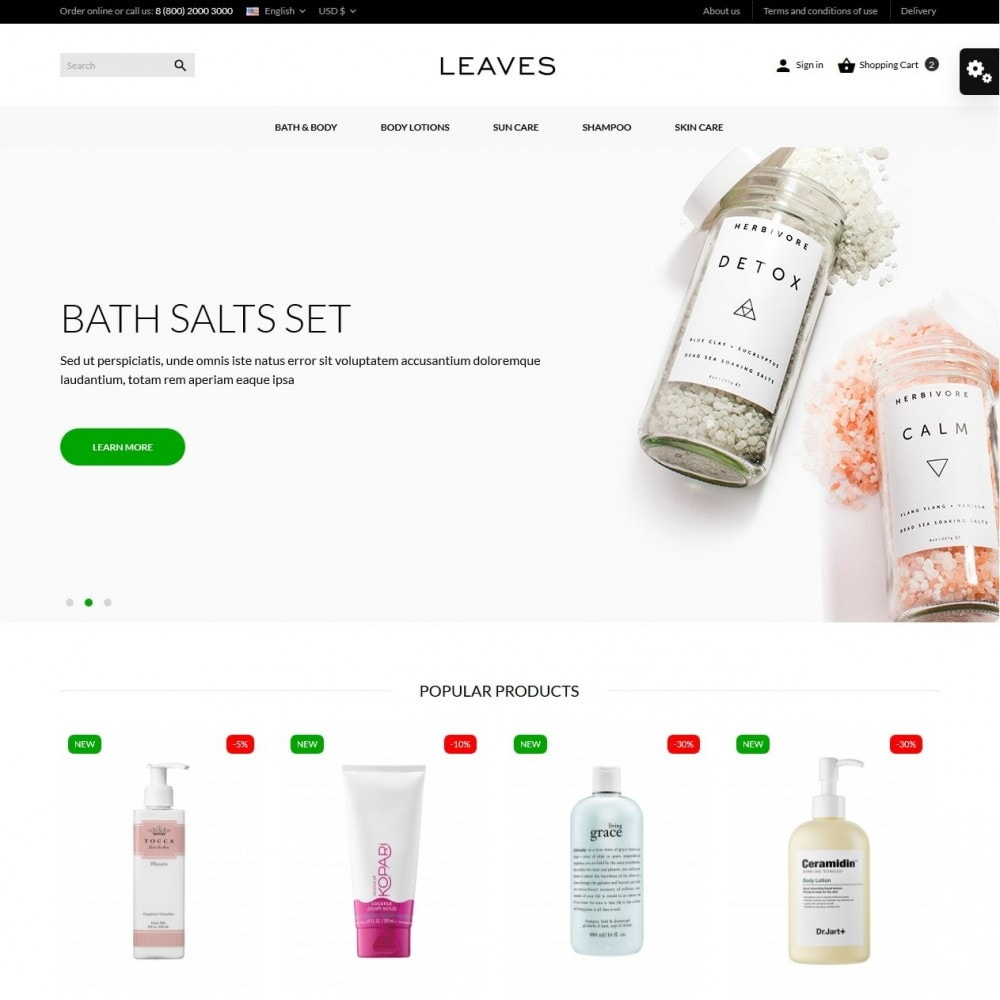 theme - Salute & Bellezza - Leaves Cosmetics - 2