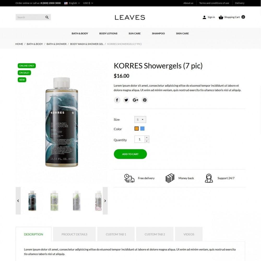 theme - Santé & Beauté - Leaves Cosmetics - 6