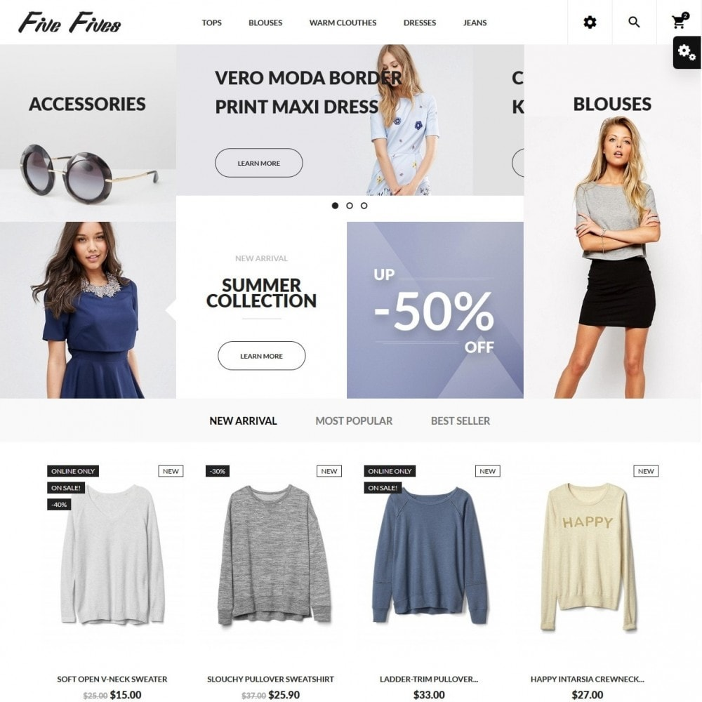 theme - Mode & Schoenen - Five Fives Fashion Store - 2