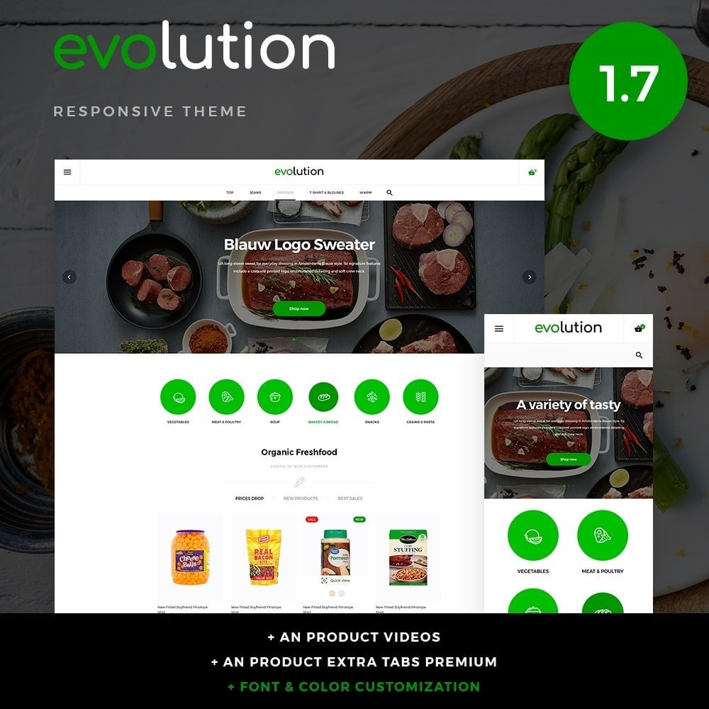theme - Alimentation & Restauration - Evolution - 1