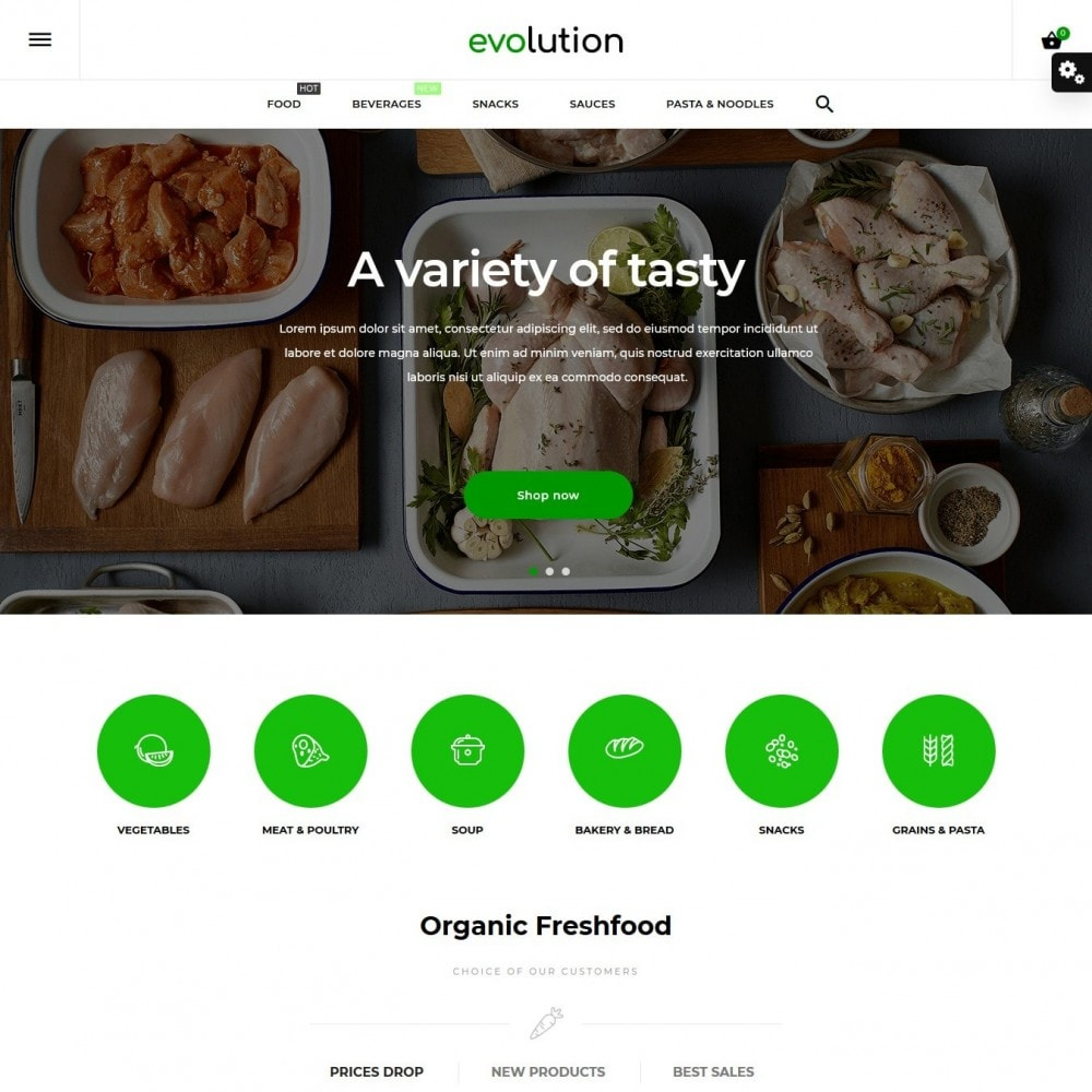 theme - Alimentos & Restaurantes - Evolution - 2