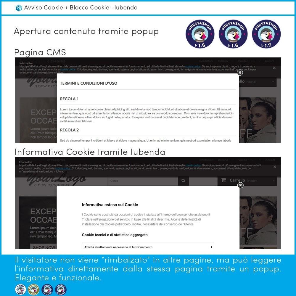 module - Legale (Legge Europea) - Avviso Cookie + Blocco Cookie + Iubenda - 3