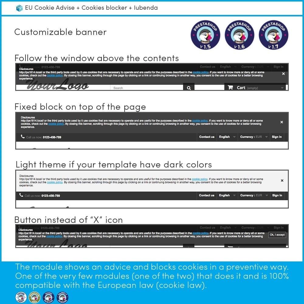module - Marco Legal (Ley Europea) - EU Cookie Advise + Cookies blocker + Iubenda - 2