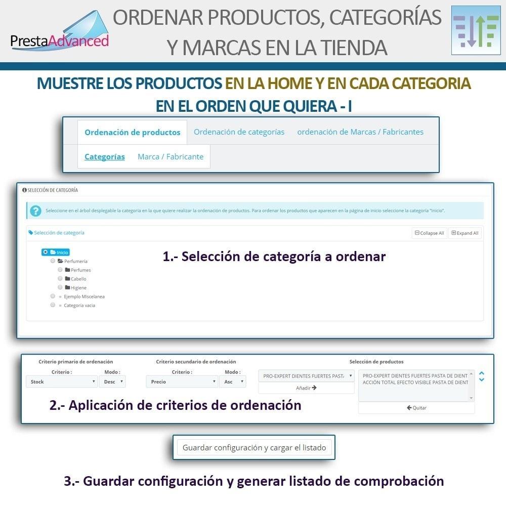 module - Personalización de la página - Ordenar productos, categorías y marcas en la tienda - 4