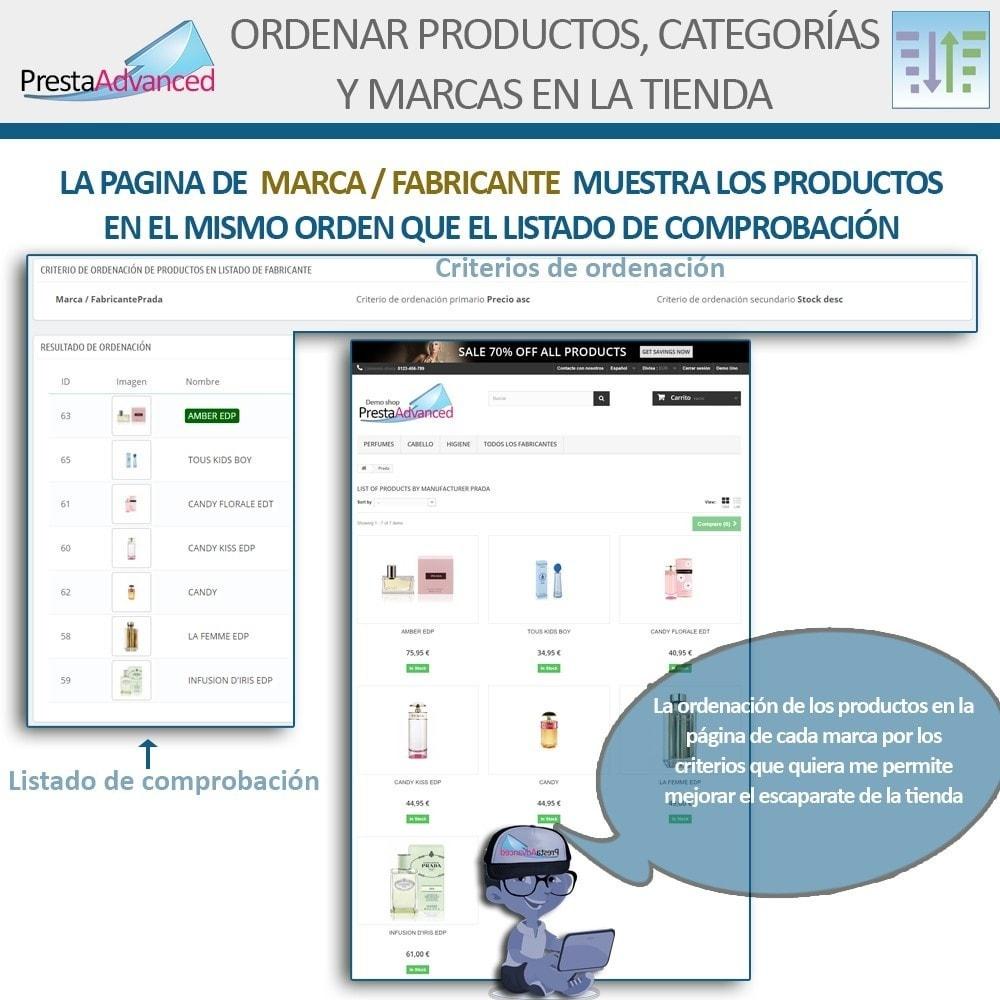 module - Personalización de la página - Ordenar productos, categorías y marcas en la tienda - 11