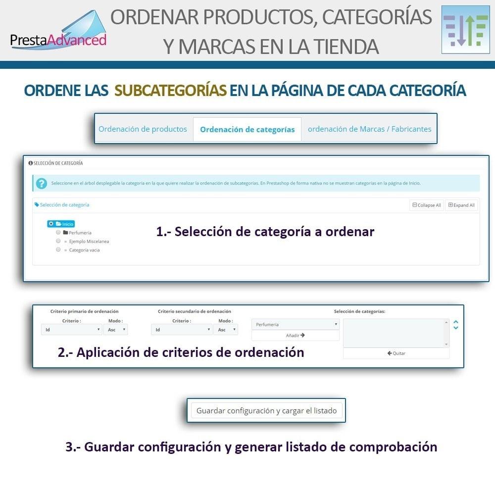 module - Personalización de la página - Ordenar productos, categorías y marcas en la tienda - 13