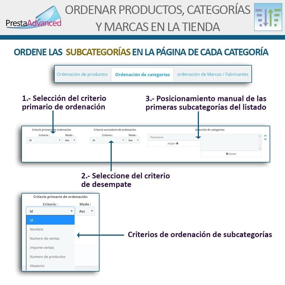 module - Personalización de la página - Ordenar productos, categorías y marcas en la tienda - 14