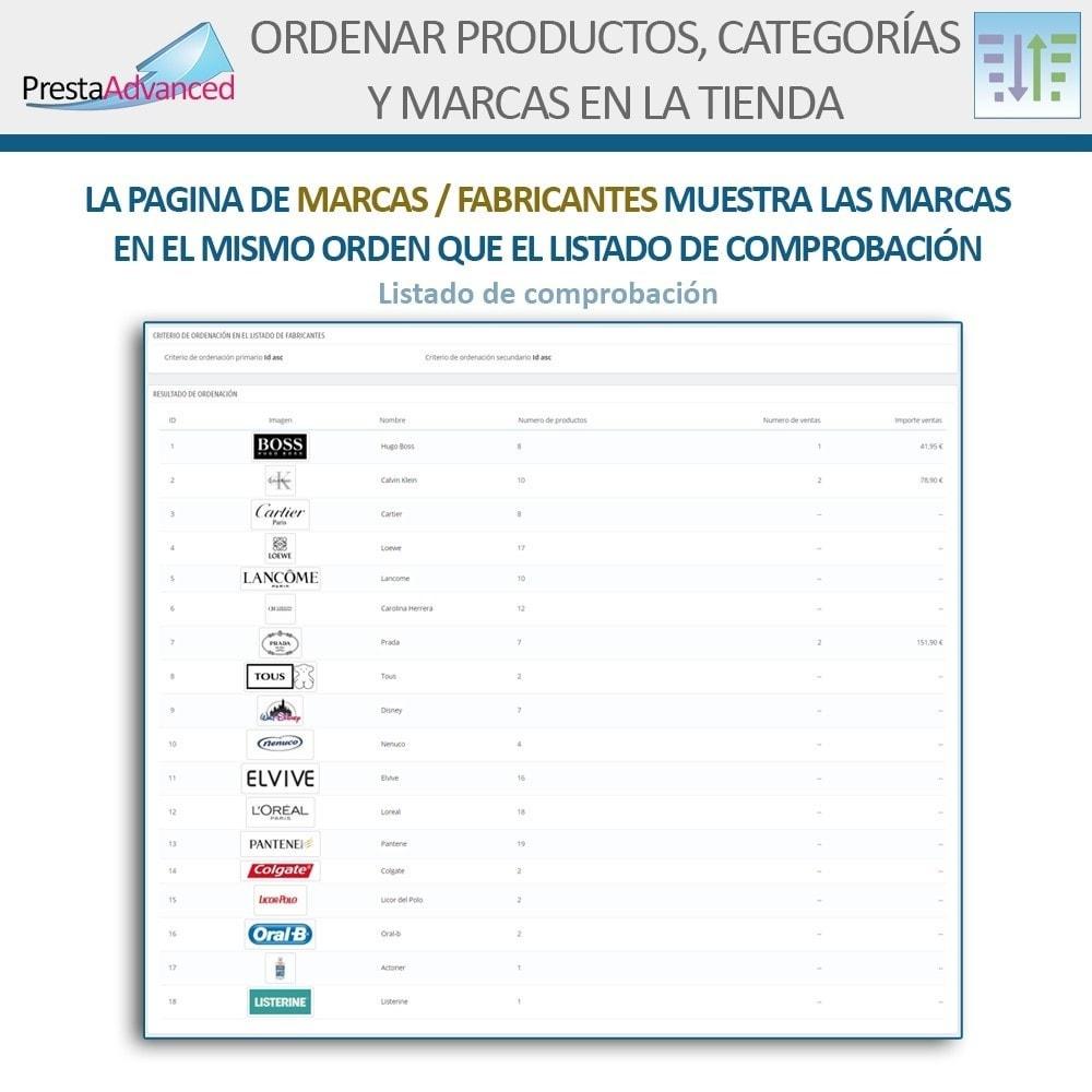 module - Personalización de la página - Ordenar productos, categorías y marcas en la tienda - 15