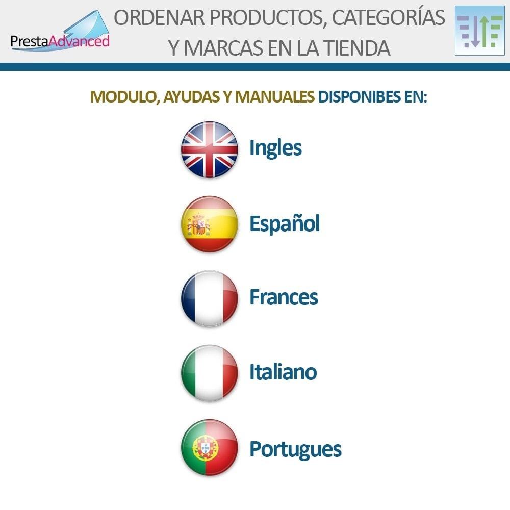 module - Personalización de la página - Ordenar productos, categorías y marcas en la tienda - 19