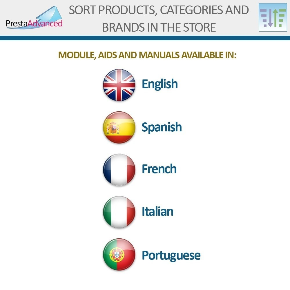 module - Адаптация страницы - Sort products, categories and brands in the store - 19