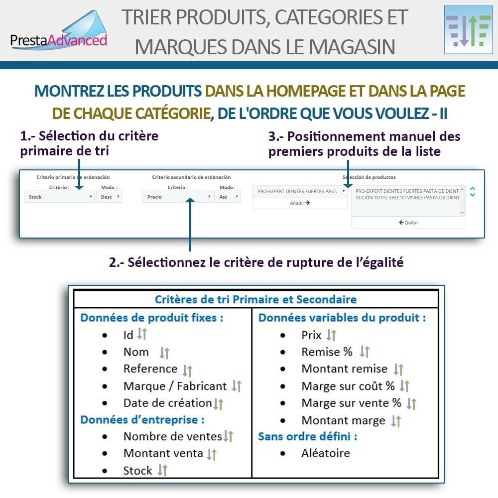 module - Personnalisation de Page - Tri de produits, catégories et marques dans le magasin - 5