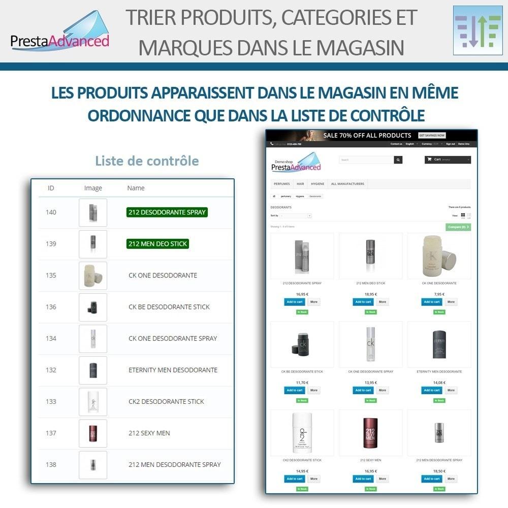 module - Personnalisation de Page - Tri de produits, catégories et marques dans le magasin - 8