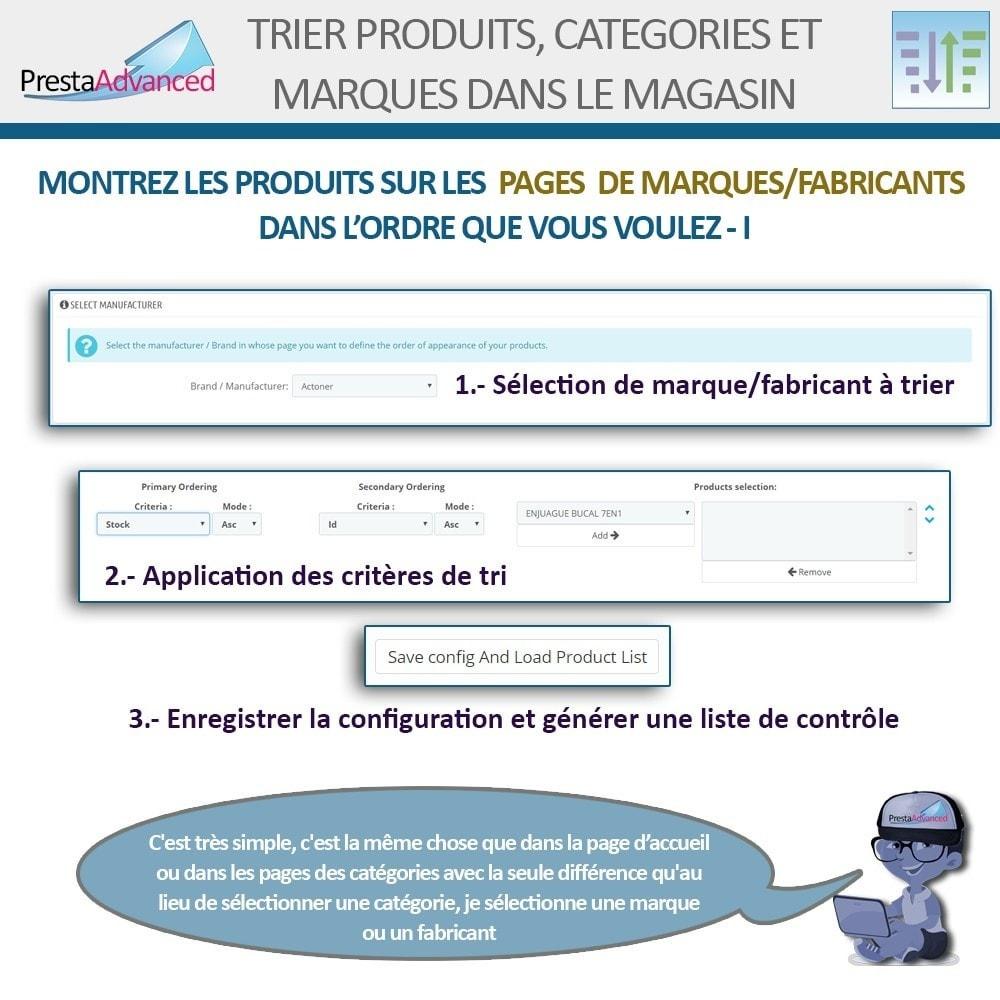 module - Personnalisation de Page - Tri de produits, catégories et marques dans le magasin - 10