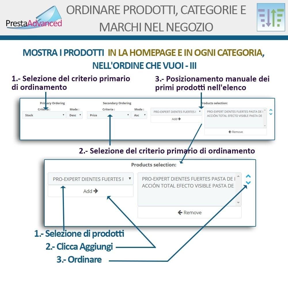 module - Personalizzazione pagine - Ordinamento di prodotti, categorie e marchi nel negozio - 6