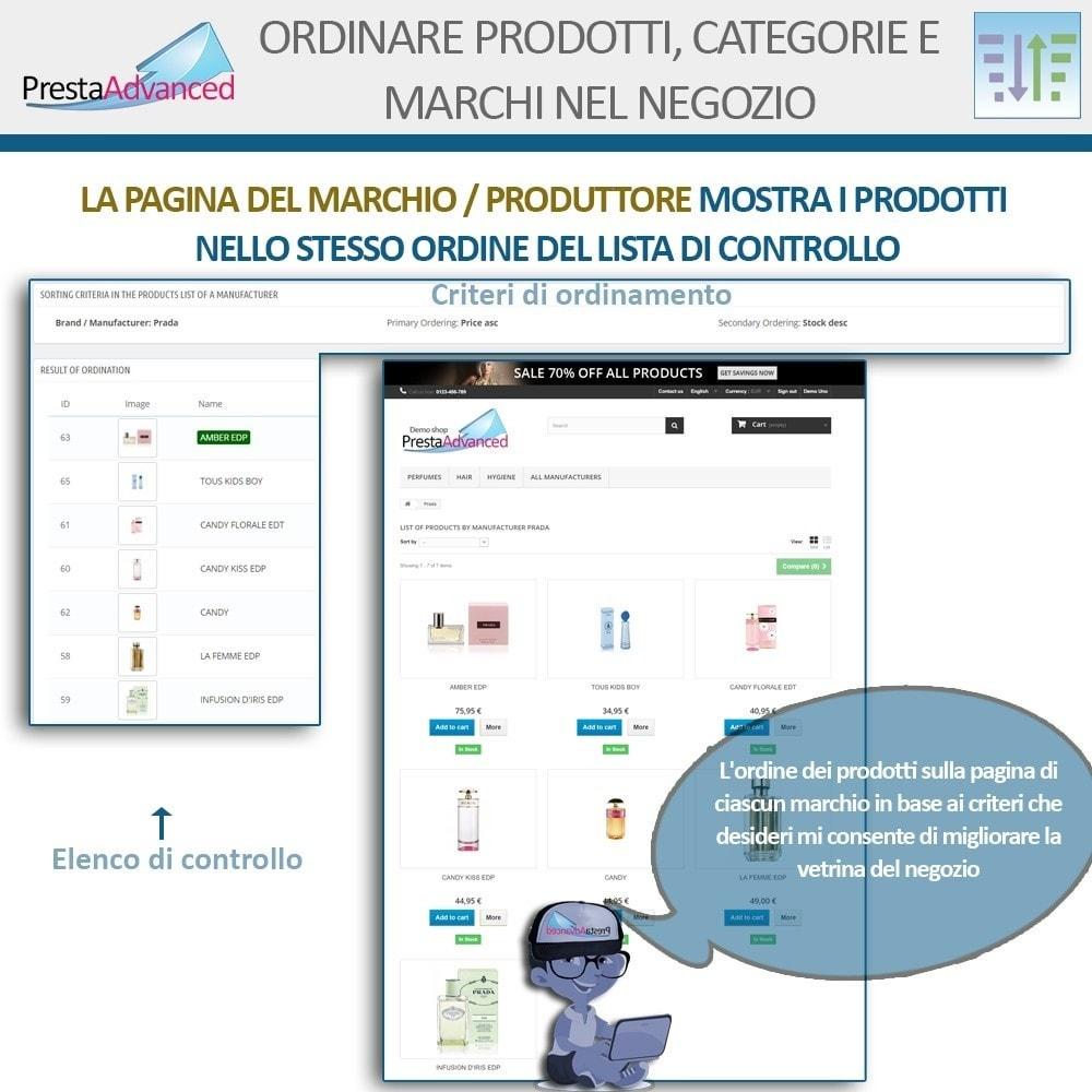 module - Personalizzazione pagine - Ordinamento di prodotti, categorie e marchi nel negozio - 11