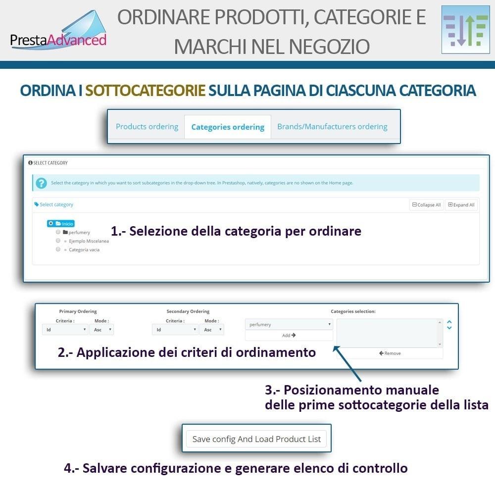 module - Personalizzazione pagine - Ordinamento di prodotti, categorie e marchi nel negozio - 13