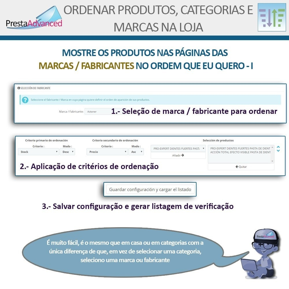 module - Personalização de página - Ordenar produtos, categorias e marcas na loja - 10