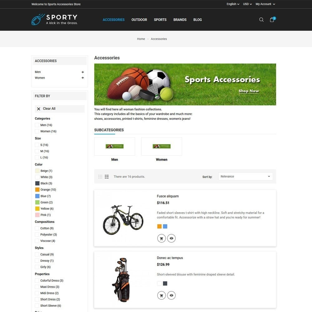 theme - Sport, Loisirs & Voyage - Sporty Accessories Store - 4