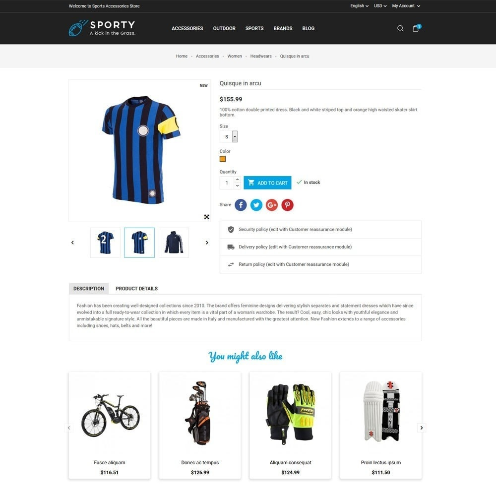 theme - Sports, Activities & Travel - Sporty Accessories Store - 5