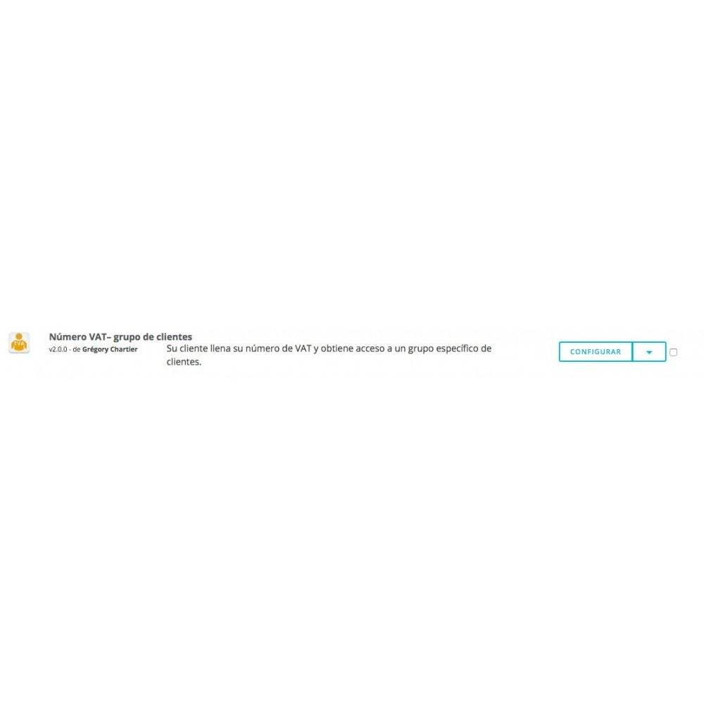 module - Contabilidad y Facturas - Número de VAT – Grupo de clientes - 5