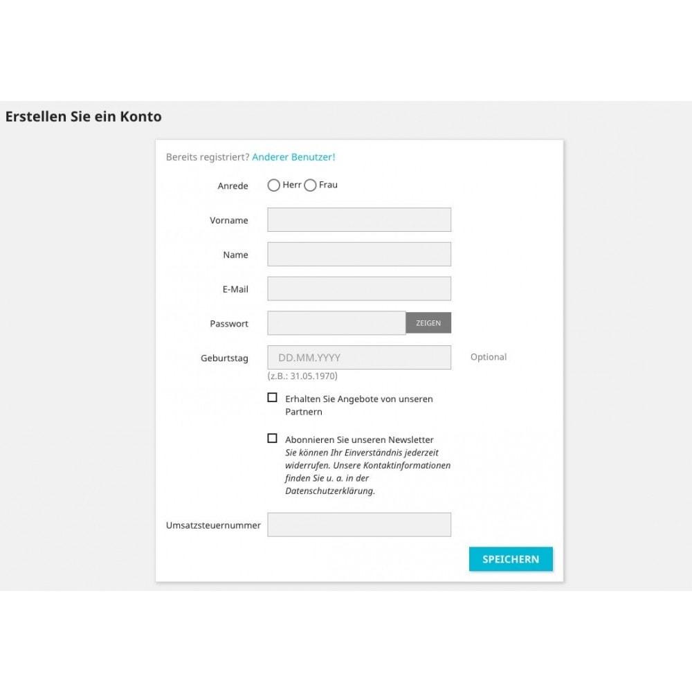 module - Buchhaltung & Rechnung - Umsatzsteuernummer - Kundengruppe - 2